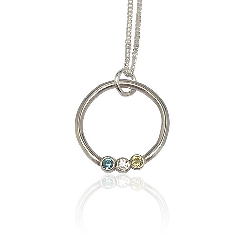 Birthstone Eternity Necklace