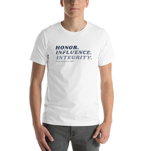 Short-Sleeve Honor, Influence, Integrity - Unisex T-Shirt