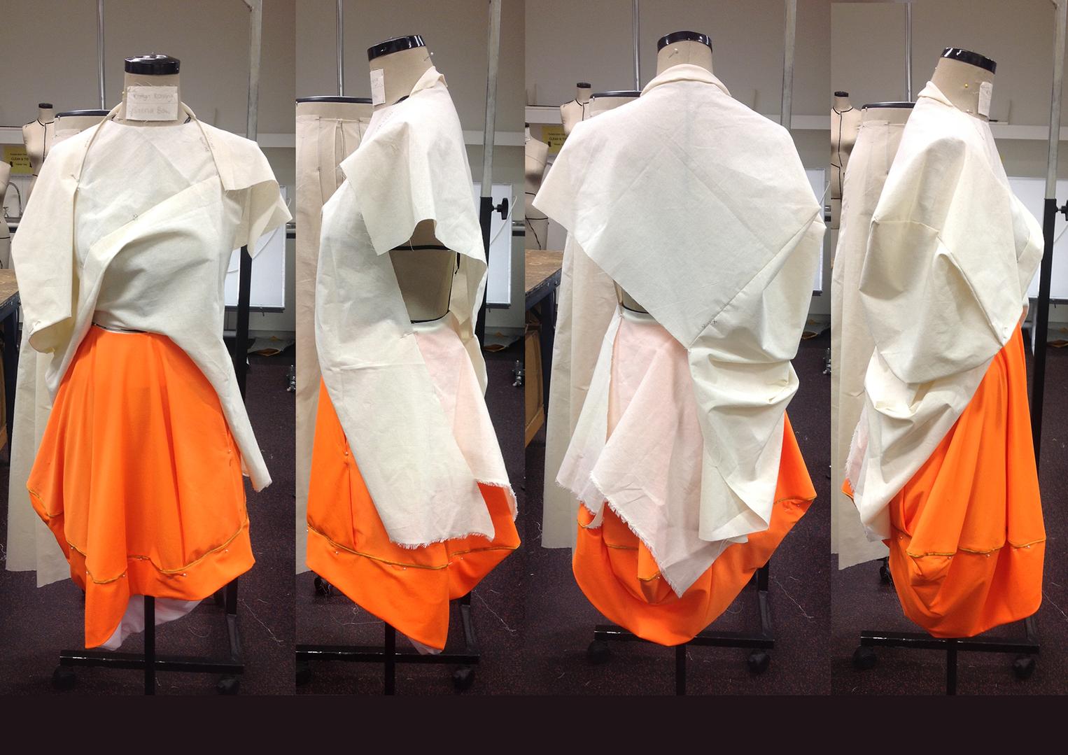 Zero-waste skirt & bodice (progress)