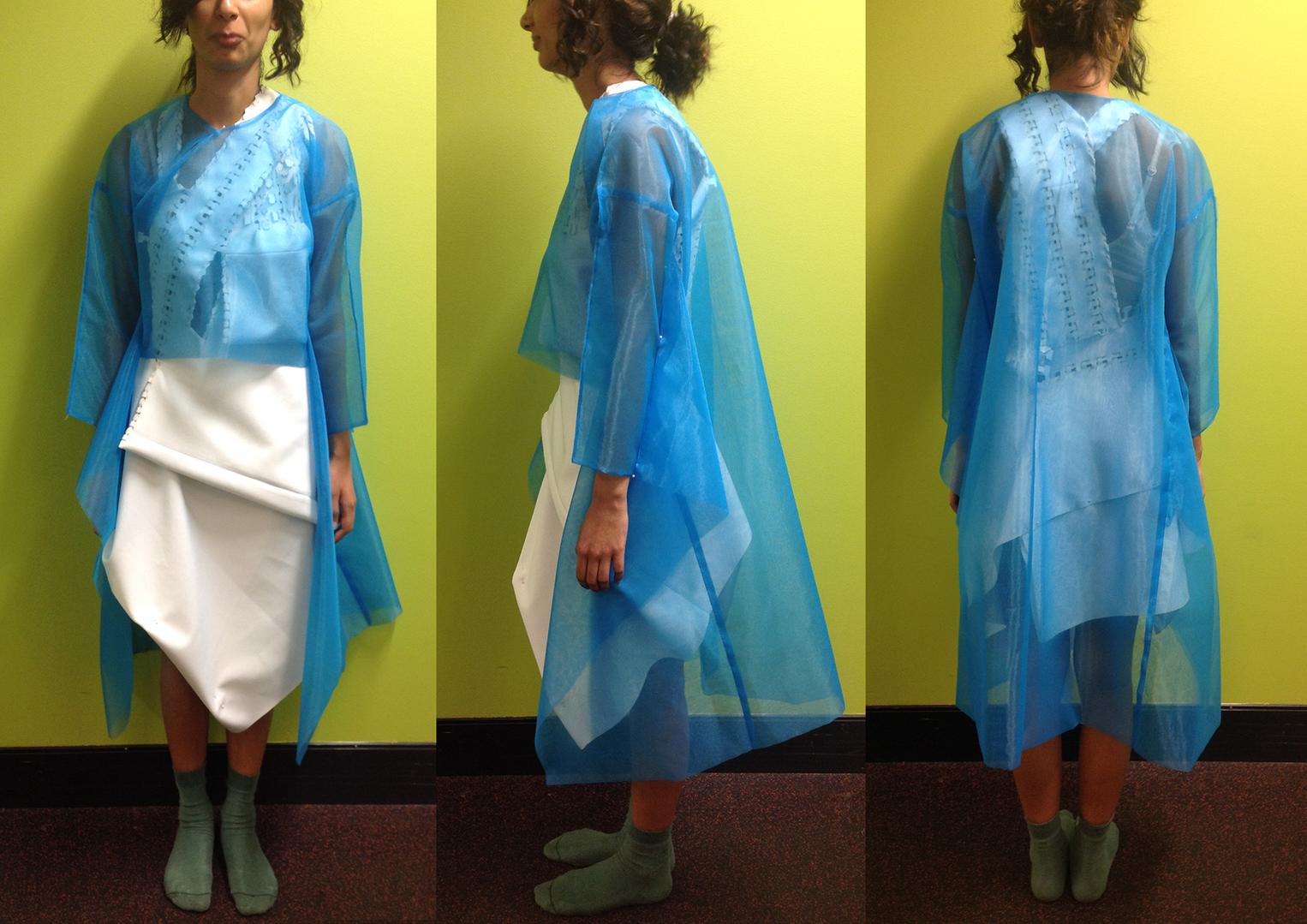Zero-waste dress & coat