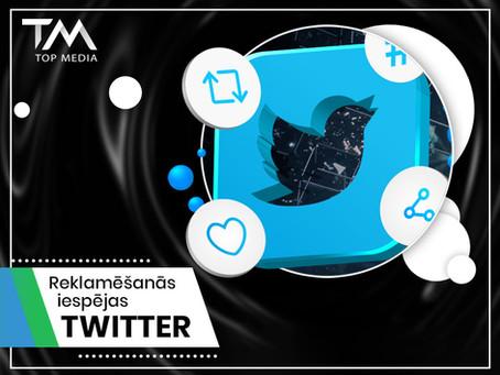 Reklamēšanās iespējas Twitter