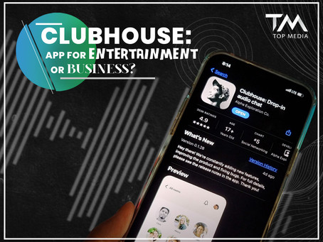 Clubhouse - app for entertainment or business?