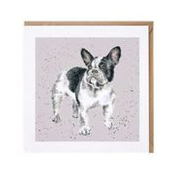 "Wrendale Designs "" a Dog's Life"" Karte Französische Bulldogge"