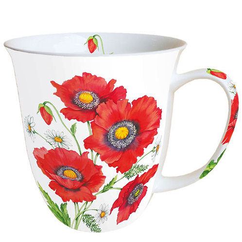 Tasse groß Mohnblumen
