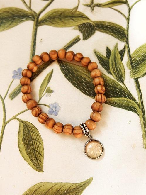 Armband Holz Hortensie