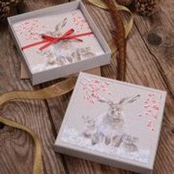 Wrendale Designs Luxus Weihnachtskarten im Schachtel Hase
