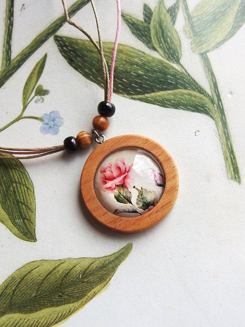 Halskette groß Rose rosa