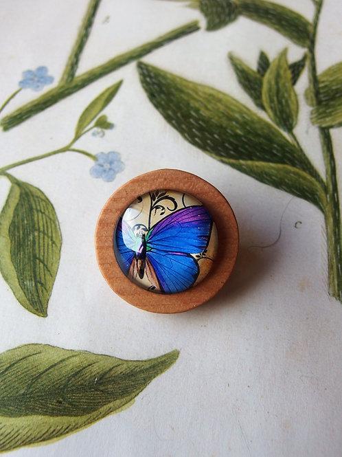 Brosche Schmetterling violet