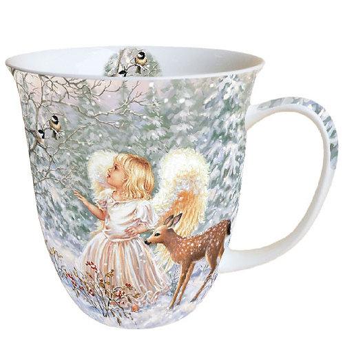 Tasse groß Engel Winter