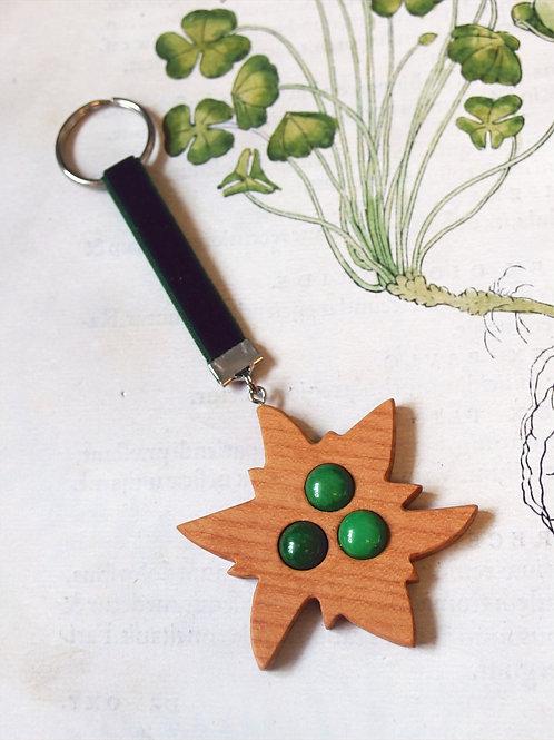 Schlüsselanhänger Edelweiß grün
