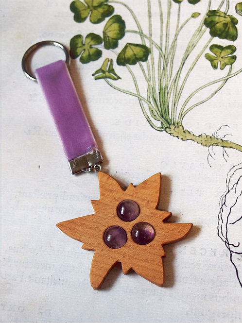 Schlüsselanhänger Edelweiß violet