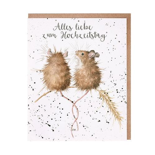 Wrendale Designs Grußkarte Hochzeitstag Mäuse