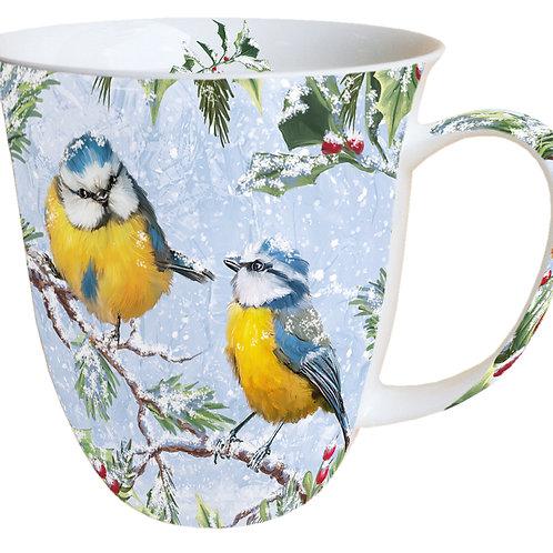 Tasse groß Blaumaisen Winter