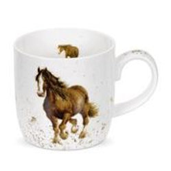 Wrendale design Royal Worcester Tasse Pferd