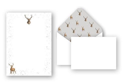 Wrendale Designs Briefschreibset Hirsch