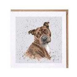 "Wrendale Designs "" a Dog's Life"" Karte Staffordshire Terrier"