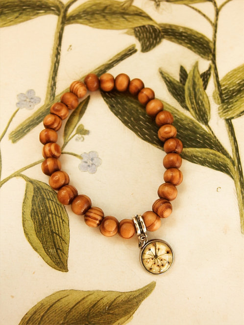 Armband Holz Doldenblüten