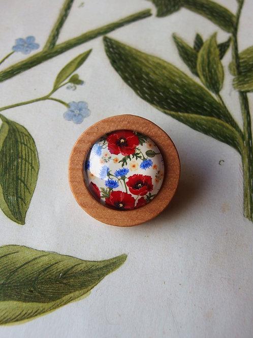 Brosche Korn- und Mohnblumen