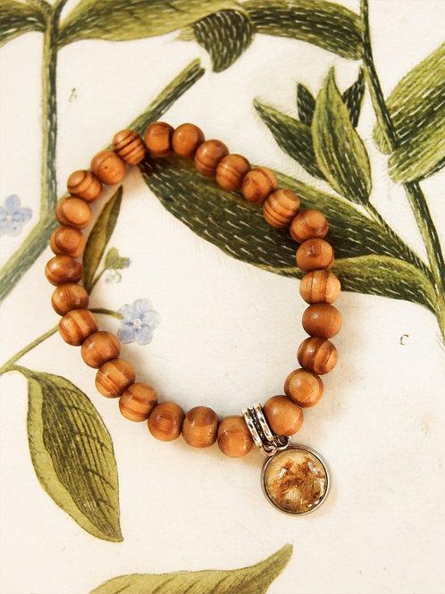 Armband Holz Frauenmantel