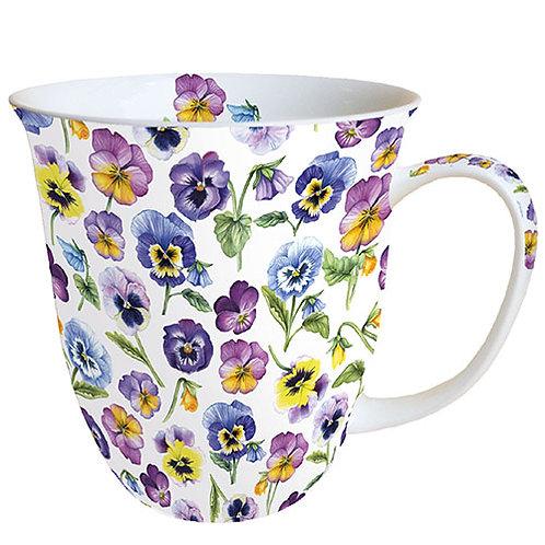 Tasse groß Stiefmütterchen