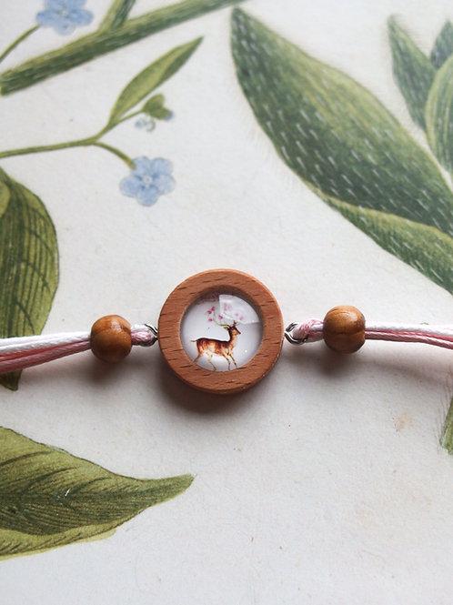 Armband Hirsch rosa
