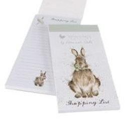 Wrendale Designs Einkaufsblock Kaninchen