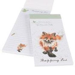 Wrendale Designs Einkaufsblock Fuchs