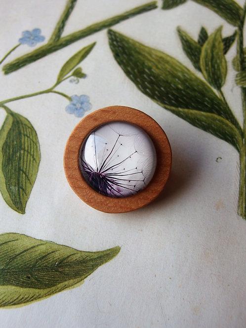 Brosche Pustenblume violet