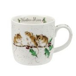 Wrendale design Royal Worcester Tasse Wintermäuse