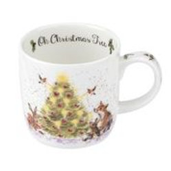Wrendale design Royal Worcester Tasse Christbaum/Tiere