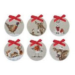 Wrendale design Royal Worcester Anhänger Weihnachten Geschenksset