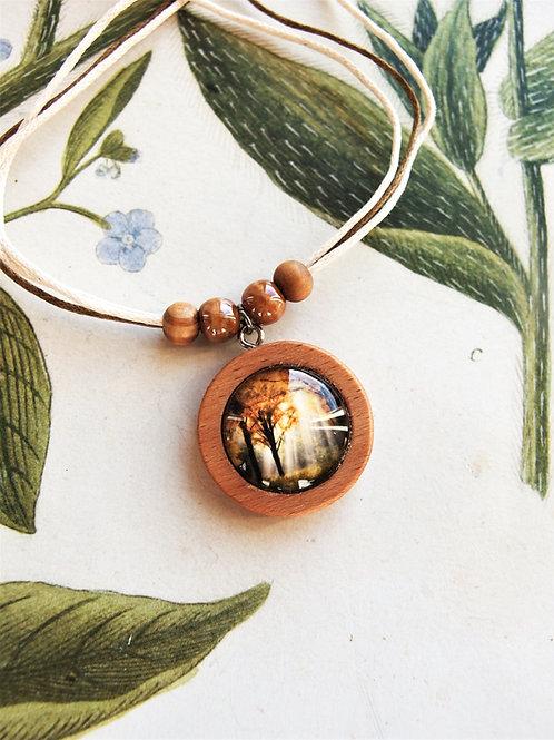 Halskette klein Herbstwald