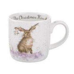 Wrendale design Royal Worcester Tasse Hase Weihnachten