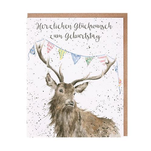 Wrendale Designs Grußkarte Geburtstag Hirsch