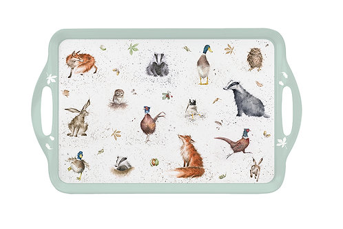 Wrendale Designs Melanine Tray Country Set