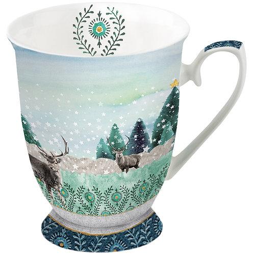 Tasse klein Hirschen Winter