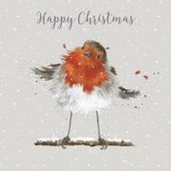 Wrendale Designs Luxus Weihnachtskarten im Schachtel Rotkehlchen