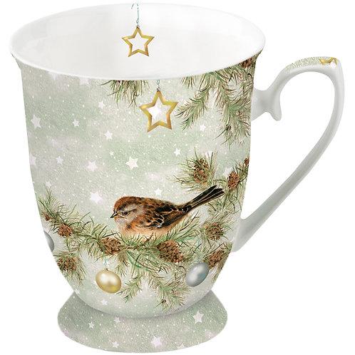 Tasse klein Vogel Weihnachten