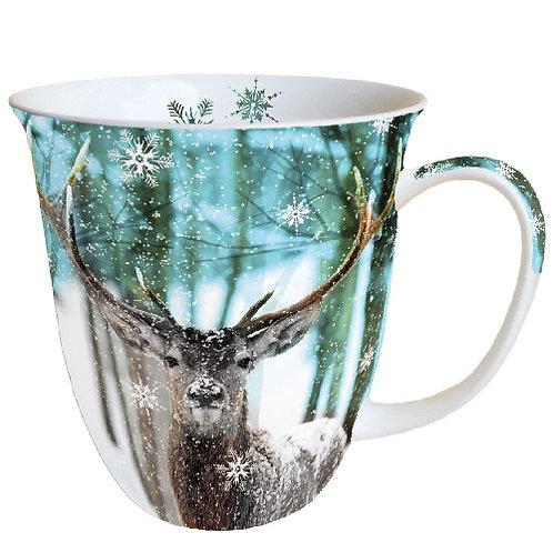 Tasse groß Hirsch Winter