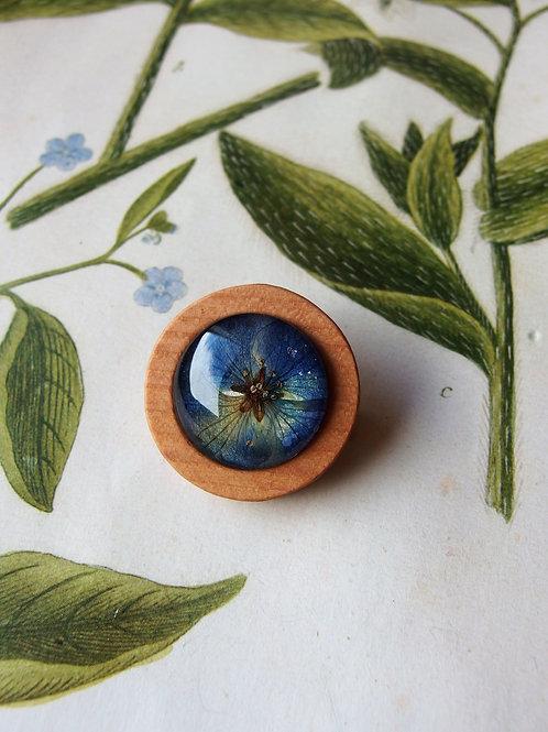 Brosche Hortensie blau