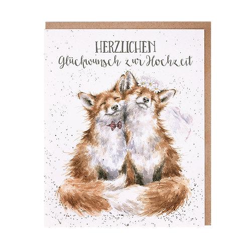 Wrendale Designs Grußkarte Hochzeit Füchse