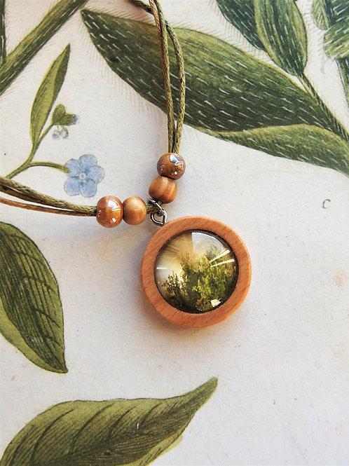 Halskette klein Wald grün