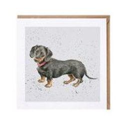 "Wrendale Designs "" a Dog's Life"" Karte Dachshund"