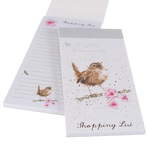 Wrendale Designs Einkaufsblock Vogel