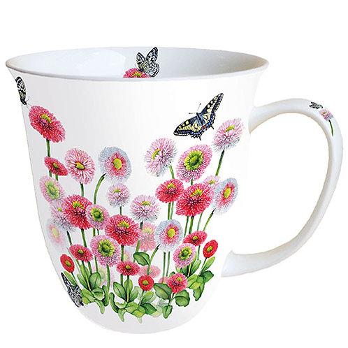 Tasse groß Gänseblümchen rosa