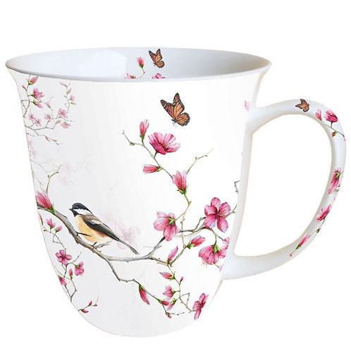 Tasse Blüten rosa groß