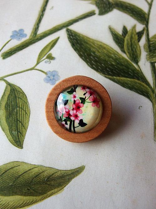 Brosche Blüten rosa