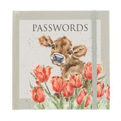 Wrendale Designs Passwortbuch Kuh
