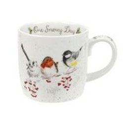Wrendale design Royal Worcester Tasse Wintervögel