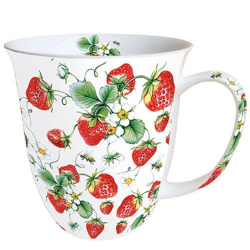 Tasse Erdbeeren
